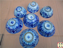 Qing qinghua old porcelain bowl antique antique ming and Qing dynasties old things Antiquities old thing Vintage collection Special offer