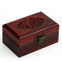 Sour Wood Jewelry Box Retro mahogany ornament box solid wood seal receives box dressing table decorations