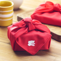 Export Japan and windy red wind LU apply baggage leather gift wrapping cloth Lunch Box Towel small 50*50cm