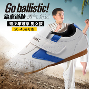 Tiejian Taekwondo shoes children male adult martial arts training shoes soft bottom Dichotomanthes end winter road shoes female send bag