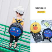 2017 Korean children cute backpack backpack hand embroidery cartoon clock tide satchel round style