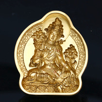 Tibetan Buddhism green mother wipe mold Brass crafts Religious supplies Mud Wipe dedicated collection boutique