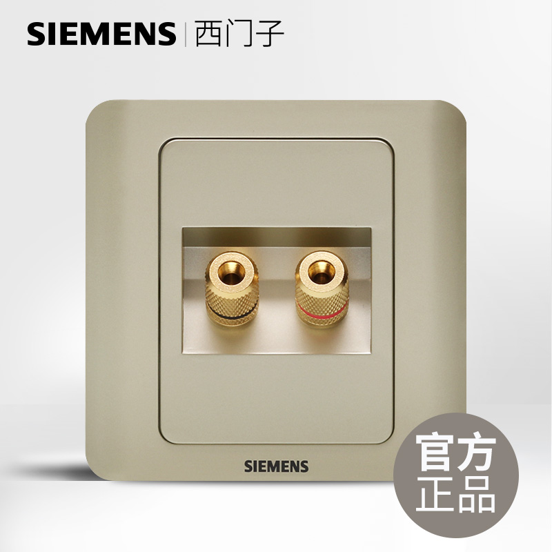 Siemens two audio and video audio socket plug two head audio jack panel vision gold brown