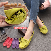 2017 summer new Korean shoes casual shoes Asakuchi flat all-match Dichotomanthes end shoes pedal Doug shoes