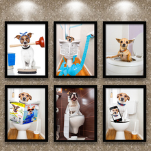 Bathroom decoration, painting, animals, dog bars, bars, paintings, paintings, personas, walls, paintings, other pet shops, spare parts without holes.