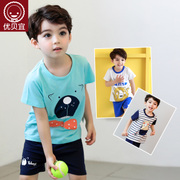 Excellent bayee kids children suit boys Summer Shorts two piece girl summer baby baby clothes