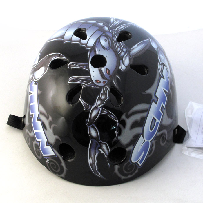 [Foreign Trade 瑕疵]Blue 子 死飞自行车Skateboarding Bboy Sports Helmet Large size 11 Hole