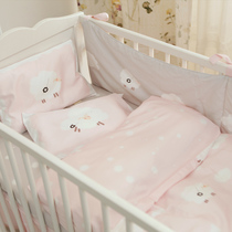Platinum blue infant three sheep baby bedding set cotton bedding