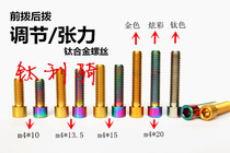 Titanium alloy screw M4 adjusted by H/L before and after pulling out tension Titanium screw TC4 small head screw