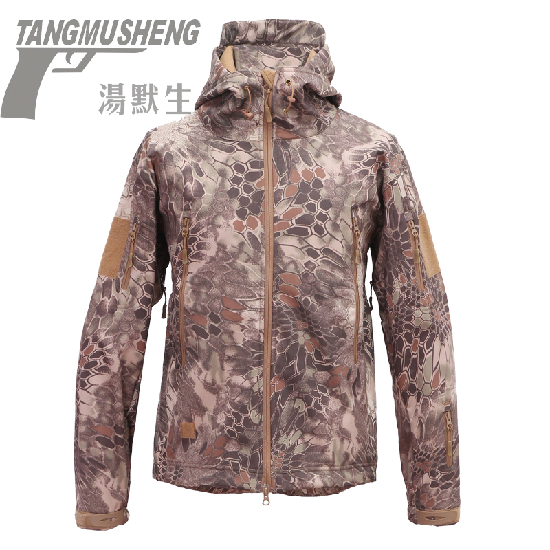Thomson shark skin soft shell special camouflage jacket mountaineering clothing autumn and cashmere waterproof windproof men's tide