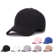 Solid Black Baseball Cap Hat male female couple peaked cap hat leisure summer hat female sunscreen