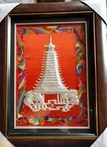 Dong Drum Tower Pure handmade to create pure silver dong custom hanging painting