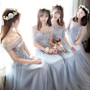 2017 new summer dresses long slim Korean Bridesmaid Dress bridesmaids sister dress party dress