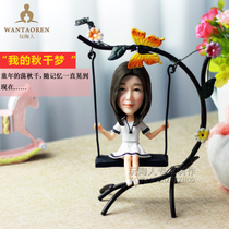 Photo Custom wax Statue Real Doll doll-swing Clay sculpture portrait soft Taoren puppet personality Gift