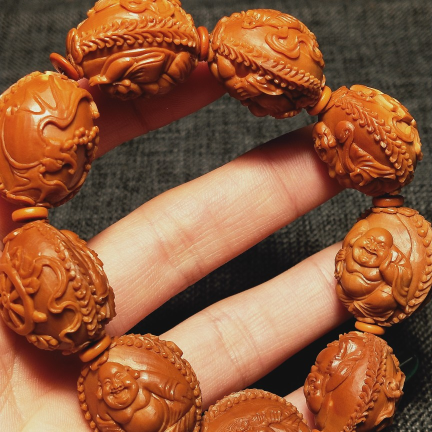 20 fine olive core carvings pure hand-carved Octa-Mil hand string