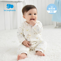 Beautiful baby baby clothes baby cotton air men and women winter romper newborn onesies 2017 new