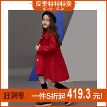 Children's clothing cashmere girls woolen coats woolen coats foreign gas baby girls long children's wool double-sided