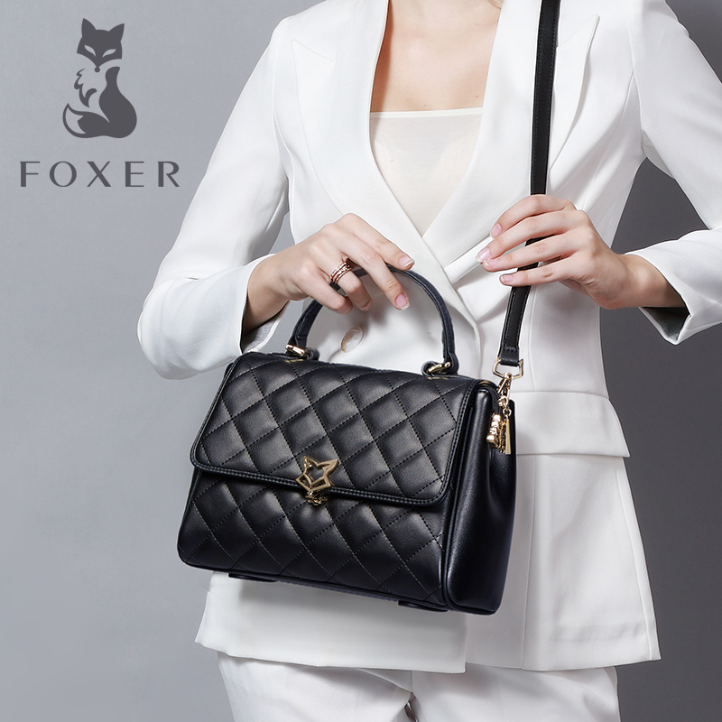 Golden Fox Slant Bag Fall and Winter 2019 New Fashion Linger Bag for Women Simple Large Capacity Hand Bill of Lading Shoulder Bag for Women