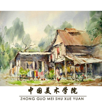 Generation painting watercolor characters gouache landscape gift painting graduation creation decorative oil painting can be customized sketch pure hand-painted
