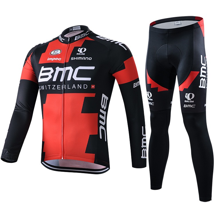 New Red Trousers Summer Spring and Autumn Mountain Bike Team Equipped with Long Sleeve Cycling Suit for Men and Women