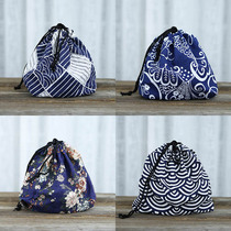 Japanese wind and lunch bags cotton sacks packed bunch lunch box bag cloth cutlery box bag