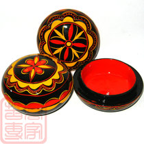 Sichuan Daliang Shanxi Chang specialty Yi folk lacquerware painted pure handicrafts characteristic flat cover jewelry M