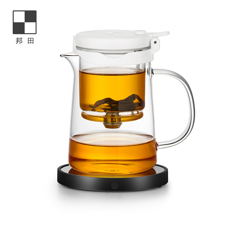 Bonta full glass flowing cup teapot one-click full filter office simple teapot can control the concentration of tea