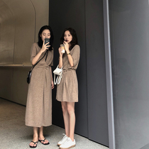 FFAN general recommendation this season!闺蜜装 Knitted dress female summer 2018 new long skirt
