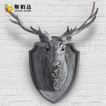 American-style simulation of wall-mounted deer head lucky living room wall decoration dining room wall hangs the Nordic creative wall decorations