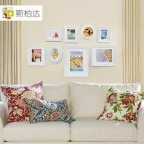 Sibaida garden wood combinations and creative of the small living room of the photo wall frame wall hanging photo wall Helen
