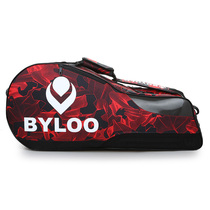 2017 new camouflage 3-6 only double-decker single shoulder tennis bag Badminton bag double shoe bag thickening