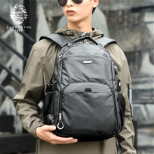 Old man's head, shoulder bag, male Korean Edition, computer bag, trend, women's backpack, leisure and high-capacity travelling bag, schoolbag man