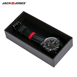 JackJones Jack Jones cow leather strap quartz men's Watch O|215497002