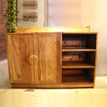 Endless coffee Old Elm dining cabinet bucket Cabinet Bar Cafe preparation Cabinet factory Direct sales!