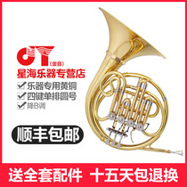 Xinghai Golden Sound jyfh-e120g drop B tune four keys single-row lacquer gold horn instrument