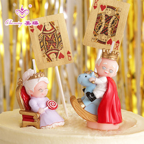 Birthday Candle unmatched king Queen old man live life to send parents grandparents Golden Wedding Wedding Memorial
