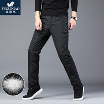 Rich bird removable liner down pants men wear thick cold warm men Outdoor Youth down cotton pants