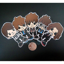 [Tomorrow Edition] May sticker Q version doll suitcase sticker notebook sticker complete set of 5 3M grinding
