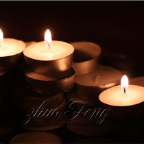 Tea wax Candle small white candle paint printing heating available