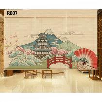 Японский японский плавающей живописи и ветра суши кухни бамбуковый занавес украшения перегородки фоновый подъемник стены