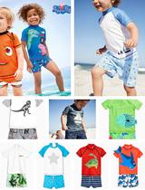 现货英国NEXT正品宝宝男童男孩游泳沙滩短袖防晒儿童分体泳衣泳装
