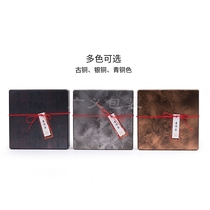 Metal horse mouth tie Puer white tea 357g cake box packaging high-grade tea gift box wholesale empty box