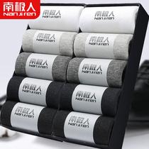 Antarctic socks mens barrel anti-smelling sweat-absorbing summer stockings thin cotton autumn and winter black socks mens cotton socks