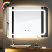 Tianhong Led Bathroom Mirrors Wall Mounted HD Frameless Round Mirror Light Smart