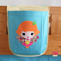 Card organizer child bed tent hanging bag bag girl blue bed half-height bed wall accessories