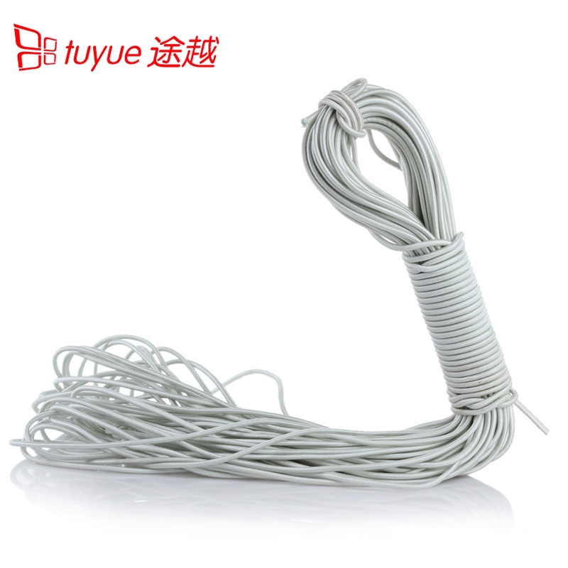 Tent pole rubber band tent accessories mosquito nets elastic band elastic rope rubber pull continuously 1 yuan 1 meter