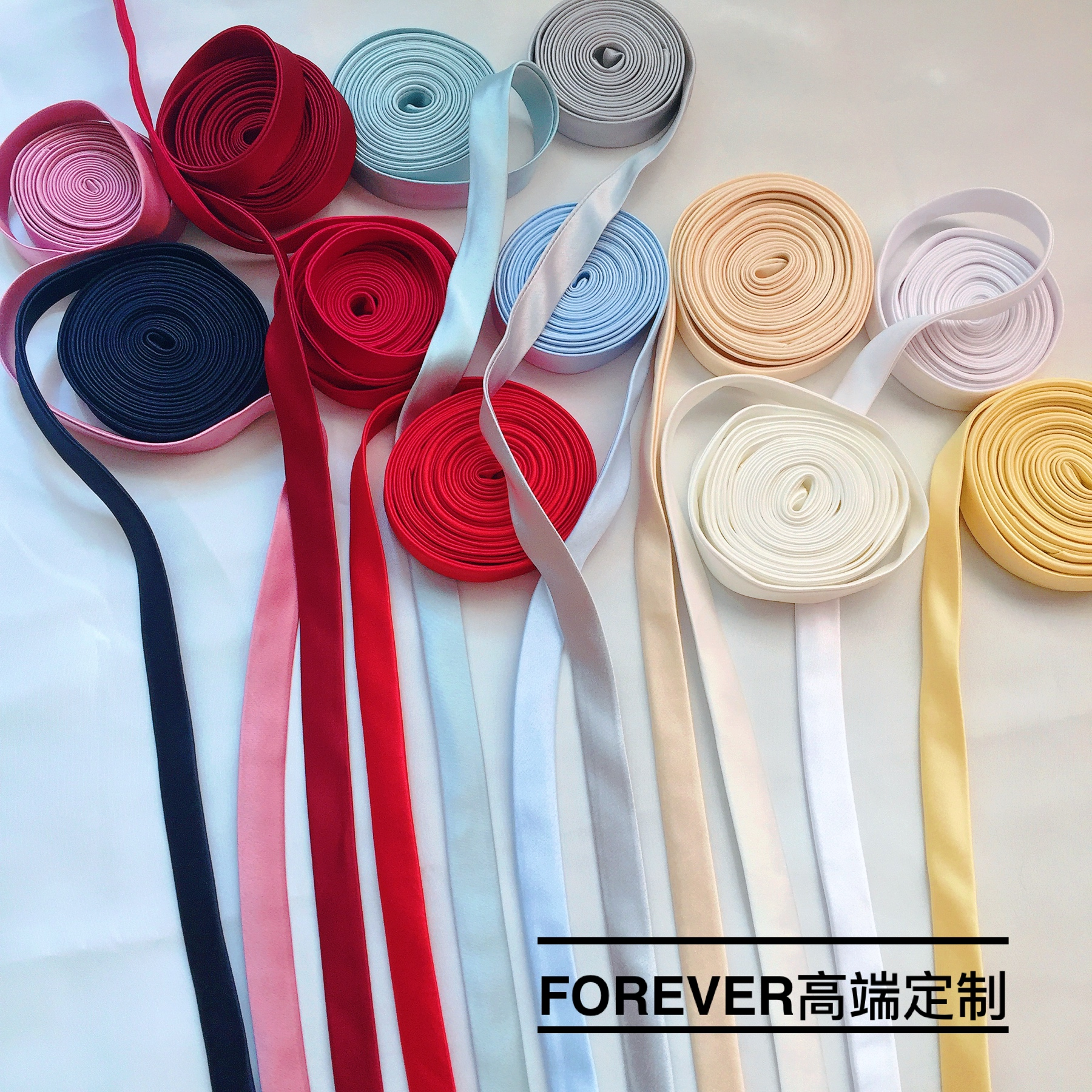 Wedding dress accessories back tie rope tie multicolor wedding dress back enlarged wide crotch cloth cover