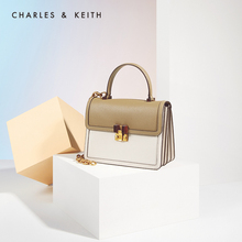 Charles & keith2020 new spring & summer ck2-50781188 women's chain portable one shoulder organ bag