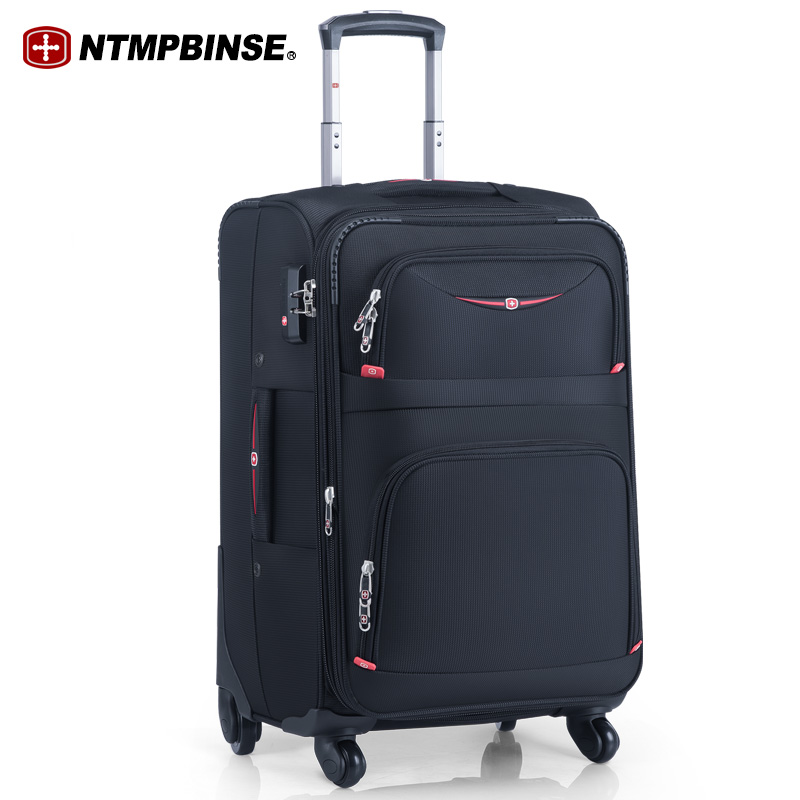 Swiss Army Knife Oxford Bracket Suitcase Female Canvas Suitcase Male Universal Wheel Suitcase 20-inch Boarding Suitcase