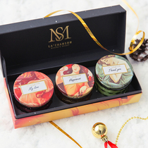 Xiang send new products with hand gift birthday wedding gift teacher practical gift honey luxury scented candle gift box set.